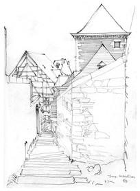 乡间建筑手绘图 JPG