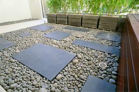 原创设计稿 方案意向 铺装 庭院地面砖拼铺装  中式庭院铺装意向图 庭图片