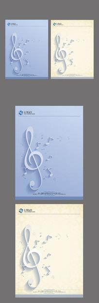 音乐信纸设计