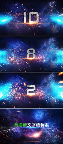 震撼3d立体倒计时视频ae模板
