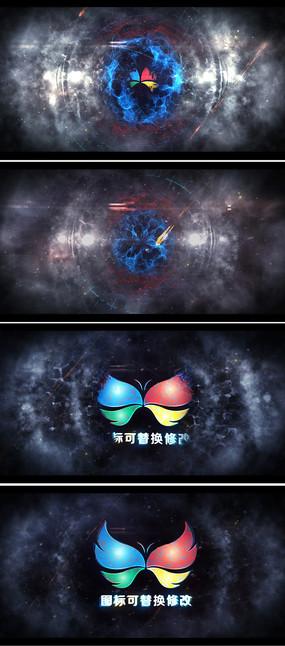 震撼粒子冲击logo标志展示ae模板