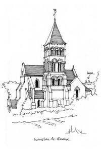 宗教建筑手绘