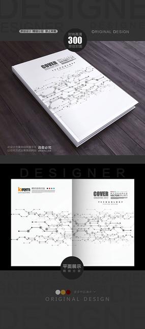 封面设计 蓝色点线面封面设计  下载收藏 电路板元素科技封面 下载