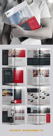 红色高端通用画册设计模板