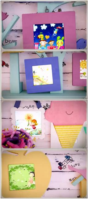 可通卡通儿童相册片头模板