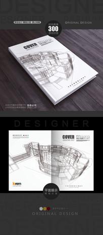 立体线稿建筑学封面