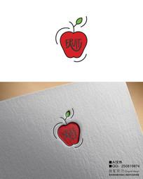 鮮切水果蘋果LOGO