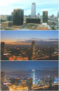 北京国贸大厦CBD远眺夜景实拍视频