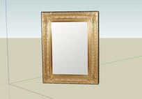 彩色金框镜子