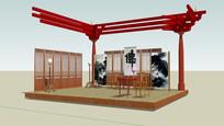 佛家装修茶厅展览