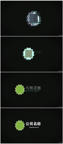 简洁科技感Logo标识展示动画