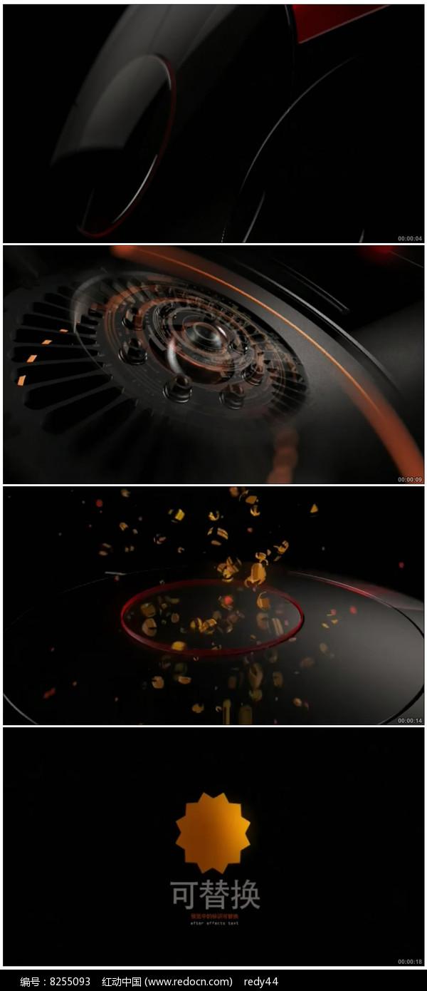 科技logo标志演绎ae模板图片
