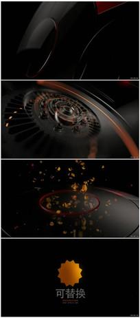 科技logo标志演绎ae模板