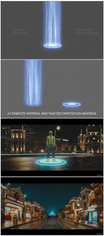 空间光效传送门视频素材 mov