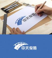 蓝色创意科技logo设计