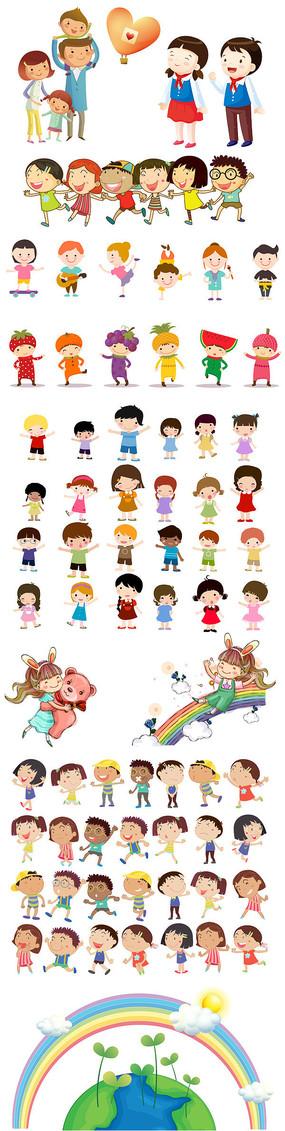 六一儿童节孩子插画集