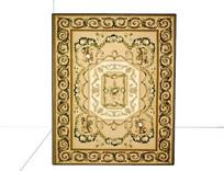 欧式复古花纹地毯