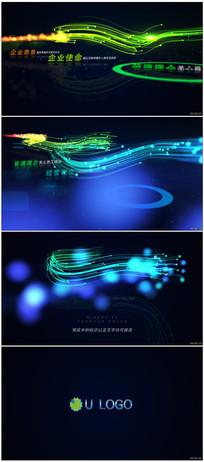 唯美粒子动画企业文化展示模板