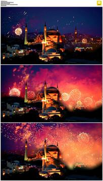 新年城市烟花实拍视频素材