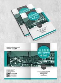 复古城市建筑封面设计