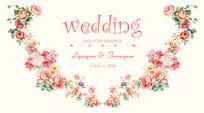 高端时尚婚礼背景板