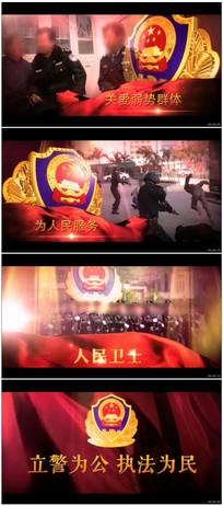公安警察工作纪实汇报宣传片