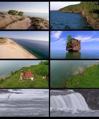 航拍湖泊视频
