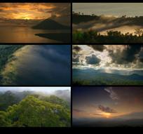 航拍热带雨林风景视频