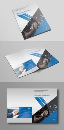 简单大气蓝色企业宣传画册封面