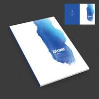 蓝色水墨中国风艺术封面设计