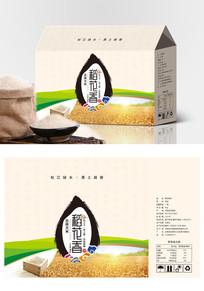 时尚简约稻花香米大米食品包装设计