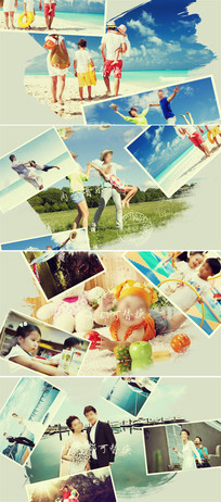 水墨中国风幻灯片婚礼家庭儿童相册模板