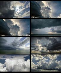 天空天气变化视频素材