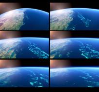 外太空航拍地球视频