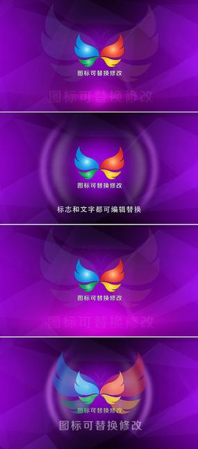 震撼冲击波logo标志演绎ae模板
