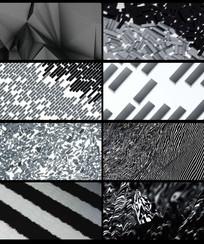 LED抽像黑白变化背景视频
