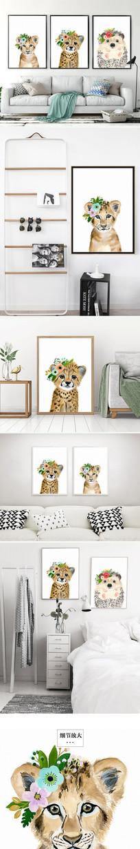 简约北欧小猫装饰画