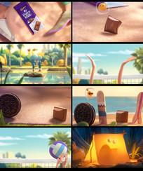卡通巧克力饼干广告视频