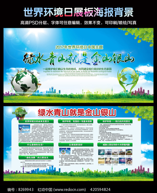 世界环境日展板图片