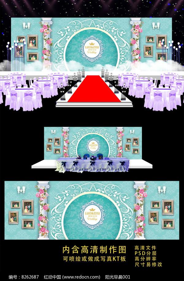 蒂芙尼唯美高端婚礼背景图片