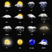 多种天气图标设计