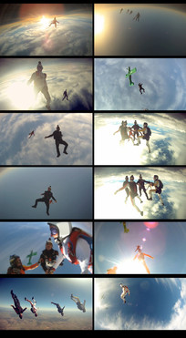 极限运动高空跳伞视频