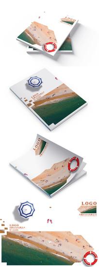 沙滩旅游画册封面设计