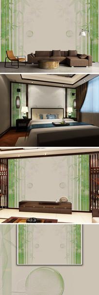 新中式竹韵砂岩电视背景墙