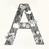 A字母文字设计eps