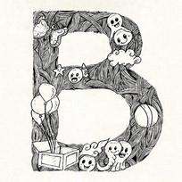B字母字体设计eps EPS