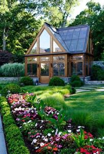 室外花房植物景观 JPG