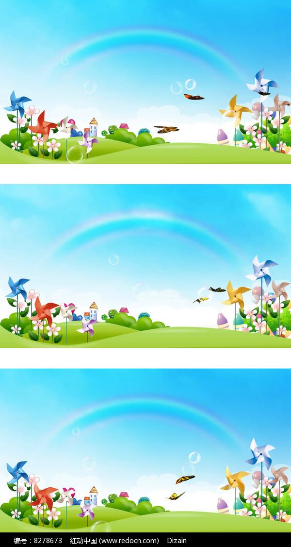 彩虹的约定国际六一儿童节卡通视频图片图片
