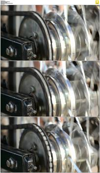 车轮链条实拍视频素材