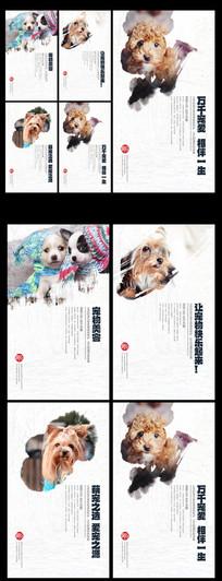 宠物店全套宠物文化品牌海报设计